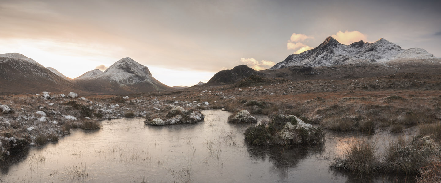 Frost grips Glen Sligachan on the Isle of Skye